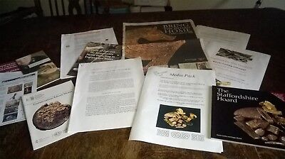 Small Job Lot Info/paper/leaflets/book/etc. About  `the Staffordshire Hoard`