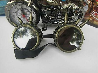 Homme Lunette Protection Yeux Steampunk Vintage Pointue Soudure Punk Cosplay NF
