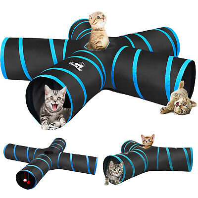 Pawaboo Cats Tunnels Extensible Collapsible Cat Playing Tube Toy Cat Maze House