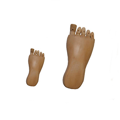 Human Foot Feet Figure Wood Sculpture Jointed Model Artists Sketch Animation