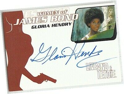 James Bond Women Motion - WA5 Gloria Hendry - Rosie Carver Autograph/Auto Card