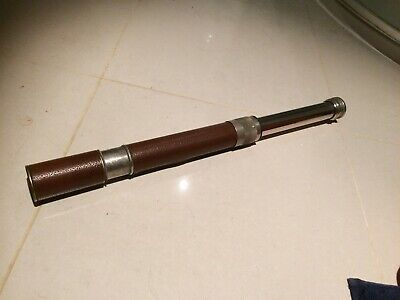 Antique Portable Telescope With Protective Case