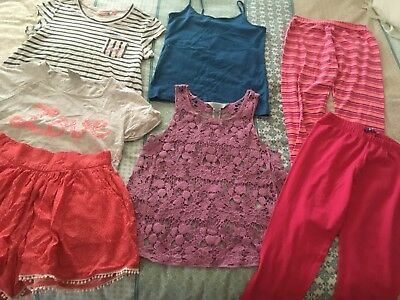 Bulk pre-owned summer girls clothing, Size 12, 7 items, VG cond