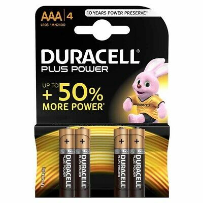 Batteria Duracell Aaa Pila Mini Stilo Alcalina 4 Pezzi Mn2400 Lr03 Plus Power
