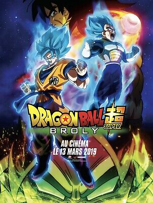 DRAGON BALL SUPER: BROLY  - Affiche cinema 40X60 - 120x160 Movie Poster