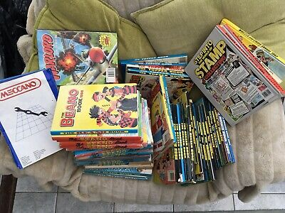Job Lot Childrens Annuals 1963 To 2002. Dandy, Beano, Topper, Beezer And More