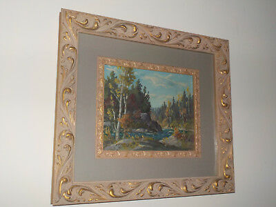 Vintage Oil On Board Painting By Canadian Artist Otto Planding 'Bissetts Creek'