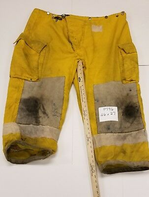 46x27 Pants Firefighter Turnout Bunker Fire Gear Morning Pride  P796