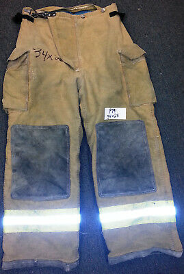 34x28 Pants Firefighter Turnout Bunker Fire Gear Morning Pride P791