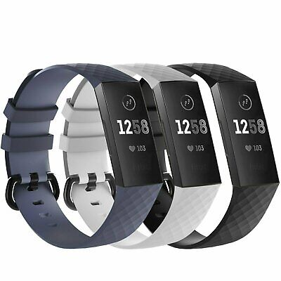 Fitbit Charge 3  Replacement Bracelet Watch Band Heart Rate Fitness 3 PACK