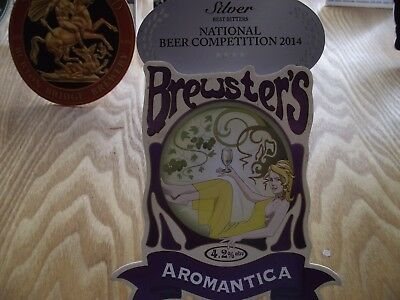 Brewsters Aromantica beer pump sign with clip fitting