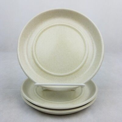 """3 Midwinter Stonehenge Side Plates 6 7/8"""" England Oven To Table Beige Mist"""