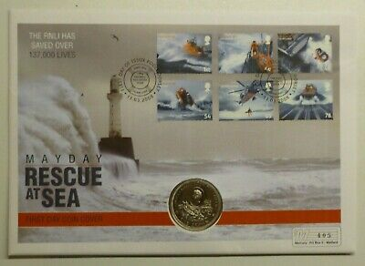 RNLI Millennium of Tynwald Isle of Man Crown 1979 Rescue at Sea 2008 Coin Cover