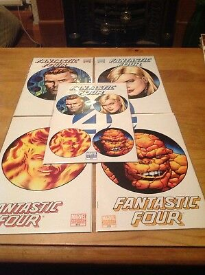 """Fantastic Four 570-574 (2009) """"solve Everything""""  All Variant Covers. The Bridge"""