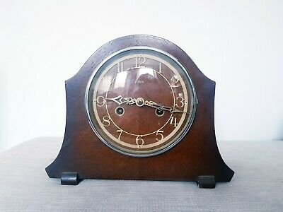Art Deco Enfield Mantle Clock - Vintage Wooden Mantel Clock