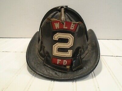 Cairns Leather Fire Helmet - New Yorker Vintage West Long Branch Fire Dept. NJ