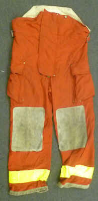 38x30 Globe Red Pants Firefighter Turnout Bunker Fire Gear NO LINER P979