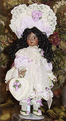 Antique Reproduction Tete Jumeau Patricia Loveless Black African Porcelain Doll