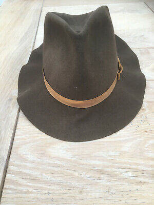 Lock & Co Brown 'Traveller' folding Trilby Hat, size 58