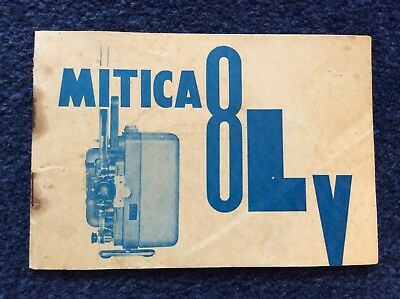 Vintage Instruction Manual for MITICA 8LY Cine Movie Projector Bell Ko-On Co