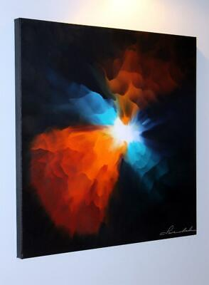 Large Original Modern Fine Art Abstract Canvas Oil Painting Tara Baden Signed