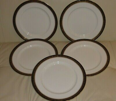 "Aynsley Balmoral Fine English Bone China 10 5/8"" Dinner Plates Set of 5"