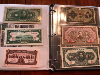 WORLD CURRENCY PAPER MONEY LIFETIME COLLECTION (83 NOTES 1880'S to 1970'S)