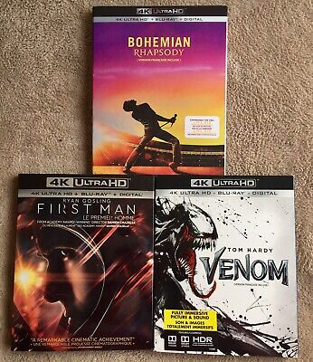 New Release 4K Ultra HD Movies, Bohemian Rhapsody, First Man,Venom, NEW