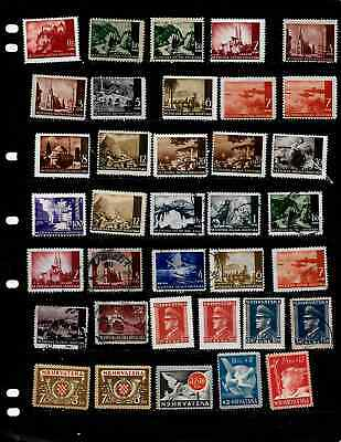 Croatia: Nice 'vintage' Stamp Collection Mint & Used Displayed On 3 Sheets