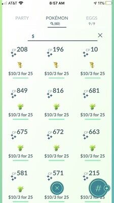 Pokemon Go Shiny Rare Pokemon Trade Iphone Game CHEAPEST PRICES ON eBAY MUST GO