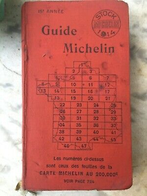 Guide Michelin 1914 france