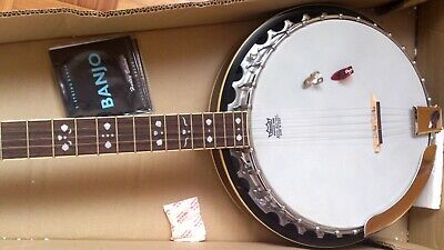 5-string banjo Fender FB 54 + Dunlop thumb/finger picks + strings