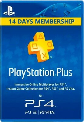 PSN 14 días  PlayStation PS Plus ~ ENTREGA INMEDIATA ~ (NO CÓDIGO) DESCRIPCION