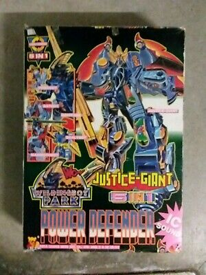 justice giant 5 In 1 wildingbot park power defender Sentai? No Popy BANDAI robot