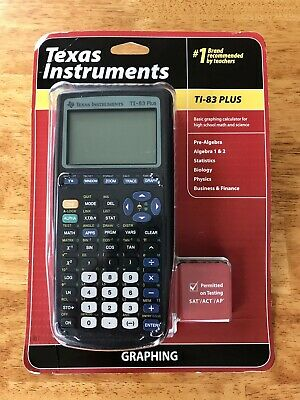 Texas Instruments TI-83 Plus Graphing Calculator - Black - New!