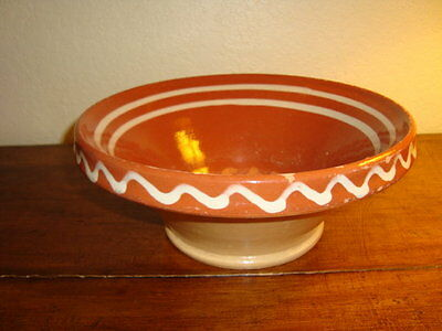 French mixing clay bowl  tian from Alsace, Eastern France, early 1900's, d-11 in