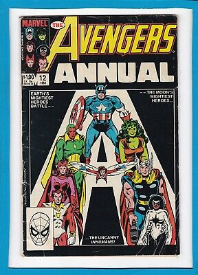 Avengers King-Size Annual #12_1983_Very Good+_Inhumans_Vision_Scarlet Witch_Ff!