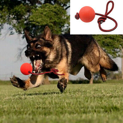 Dog Chew Toys for Aggressive Chewers Indestructible Rubber Float Rope Tug Ball