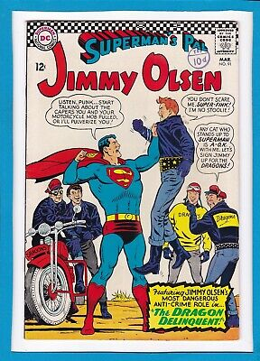 """Superman's Pal Jimmy Olsen #91_March 1966_Very Fine+_""""the Dragon Delinquent""""!"""