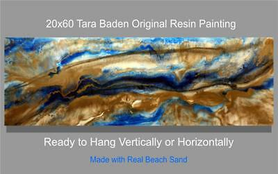 Large Original Modern Resin Abstract Signed Painting Tara Baden Home Decor Art