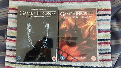 Game Of Thrones Season 7 AND Conquest & Rebellion DVD Set