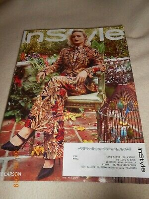 New March 2019 InStyle Magazine Brie Larson In Style