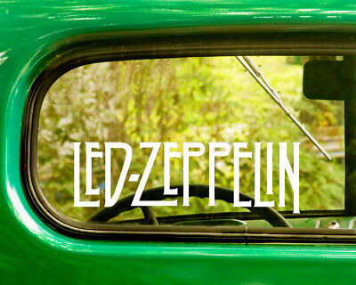 2 LED ZEPPELIN BAND DECAL Bogo Stickers For Car Truck Window Jeep Bumper
