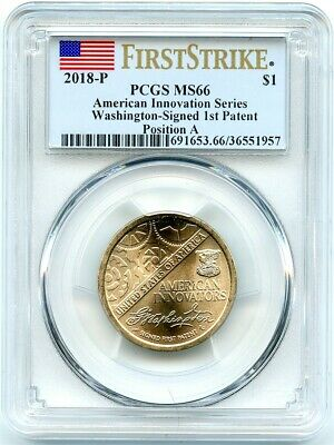 2018-P Innovation Unc Dollar, Position A, PCGS MS-66 First Strike, Flashy!