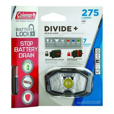 275 lm LED Headlamp with Battery Lock The Coleman Company Inc 2000025267 Coleman Divide