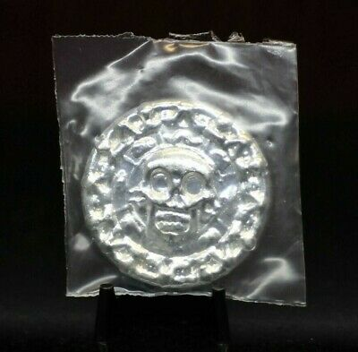 Sealed Poured YPS 50g .999 Fine Silver Skull Coin [02DUD]