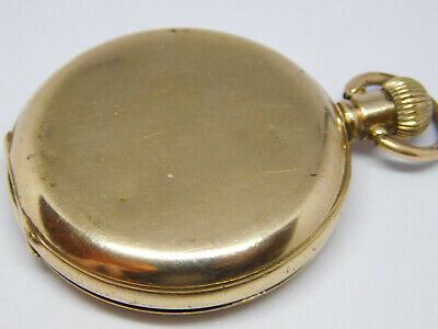 Antique Gold Filled Full Hunter Pocket Watch By Thomas Russel For Spare Parts