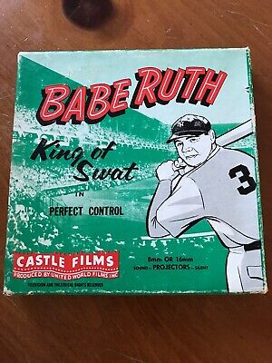 VINTAGE BABE RUTH 8mm Film from 1950s King of Swat New York Yankees