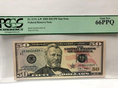 $50. 2009 Boston Star Federal Reserve Note Certified Pcgs Gem New 66Ppq