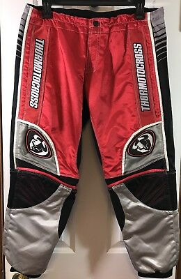 Thor MX Motorcycle MotoCross Pants Riding Protective Gear Red Blk Youth 26 12/13